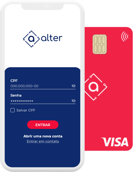 App Alter, cartão VISA Internacional, AlterCard